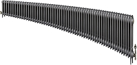 Eastgate Victoriana 3 Column 59 Section Cast Iron Radiator 450mm High x 3586mm Wide - Metallic Finish